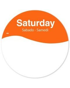 513545 Removable 76mm Round Saturday Label
