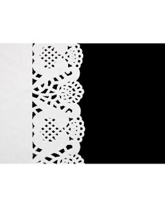 531830 White Lace Paper Doyley Tray Cover 25x35.5cm