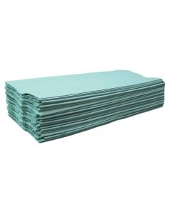 515370 Green Hand Towel 1ply Centre Fold