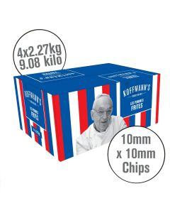 751250 Koffmann's Battered French Fries 10x10mm Skin On - 4x2.27kg