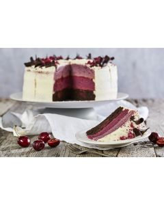 841260 Country Range Premium Chocolate Cherry Ombre Cake (Pre-Cut)