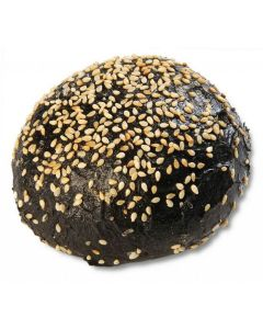 816870 Planete Pain Black Brioche Roll With Sesame Seeds - 56x90g