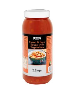 1065350 Country Range Sweet & Sour Sauce with Vegetables  - 2x2.2kg