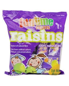 142070 Funtime Fruits Raisins Mini Box 14g