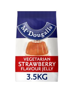 275891 Mcdougalls Strawberry Flavour Vegetarian Jelly Crystals